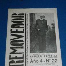 Coleccionismo de Revistas y Periódicos: (M) JOAQUIN TORRES GARCIA - REVISTA REMOVEDOR AÑO 4 NUM 22 SETIEMBRE 1948 NUMERO ESPECIAL ORIGINAL. Lote 115238023