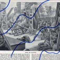 Coleccionismo de Revistas y Periódicos: SAGUNTO SITIO HOJA LIBRO 1910. Lote 115292503