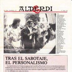 Coleccionismo de Revistas y Periódicos: REVISTA ALDERDI - PNV: 17 JULIO 1986 / Nº 104. Lote 115301707