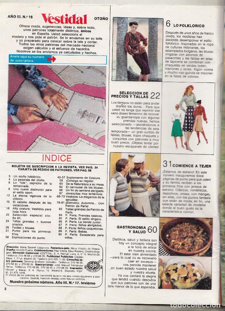 revista vestidal moda y patrones nº 18. otoño a - Comprar Otras ...