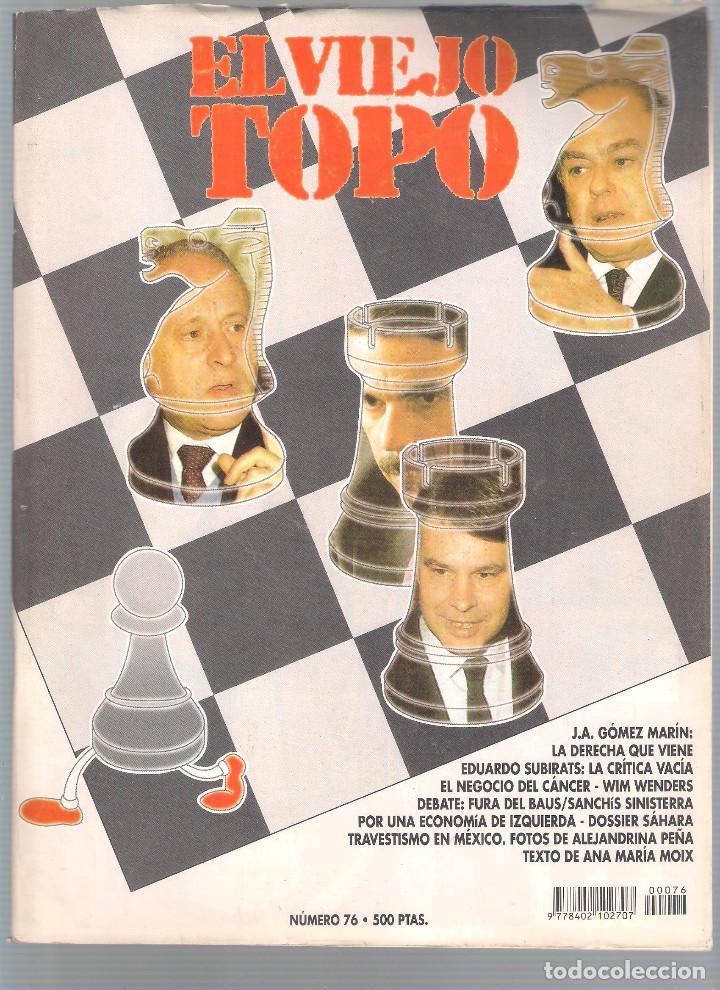 Coleccionismo de Revistas y Periódicos: Revista El Viejo Topo (2ª época) - Año 1993/94 completo. Números 70 a 80 inc. - Foto 7 - 115430663