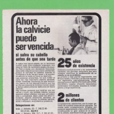 Coleccionismo de Revistas y Periódicos: PUBLICIDAD 1973. ANUNCIO INSTITUTO CAPILAR INTERNACIONAL. Lote 115499495