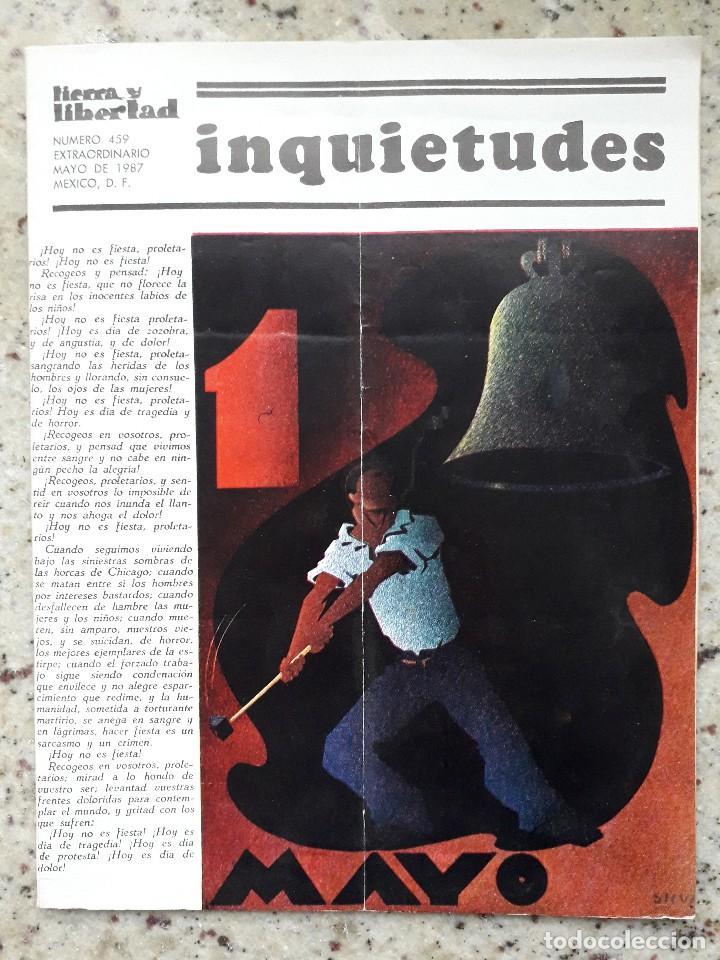REVISTA ANARQUISTA TIERRA Y LIBERTAD MEXICO Nº 459 ESTRA 1 DE MAYO 1987 (Coleccionismo - Revistas y Periódicos Modernos (a partir de 1.940) - Otros)
