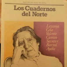 Coleccionismo de Revistas y Periódicos: REVISTA LOS CUADERNOS DEL NORTE N° 8 JULIO AGOSTO 1981 ZAMBRANO LEZAMA CELA CIORAN AYALA. Lote 115525328