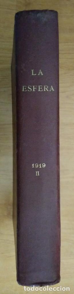 Coleccionismo de Revistas y Periódicos: REVISTA LA ESFERA ILUSTRACIÓN MUNDIAL 24 números encuadernados del número 288 al 312 año 1919 tomo 2 - Foto 2 - 115532519