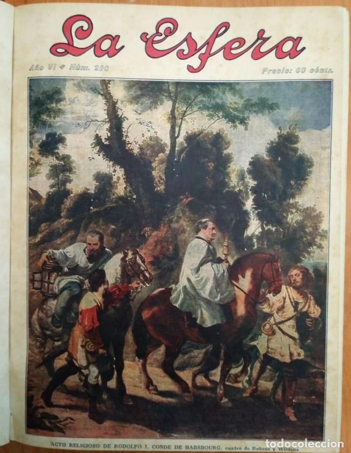 REVISTA LA ESFERA ILUSTRACIÓN MUNDIAL 24 NÚMEROS ENCUADERNADOS DEL NÚMERO 288 AL 312 AÑO 1919 TOMO 2 (Coleccionismo - Revistas y Periódicos Antiguos (hasta 1.939))