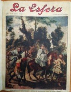Revista La esfera, ilustración mundial 24 números encuadernados del número 288 al 312 año 1919