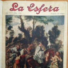Coleccionismo de Revistas y Periódicos: REVISTA LA ESFERA ILUSTRACIÓN MUNDIAL 24 NÚMEROS ENCUADERNADOS DEL NÚMERO 288 AL 312 AÑO 1919 TOMO 2. Lote 115532519
