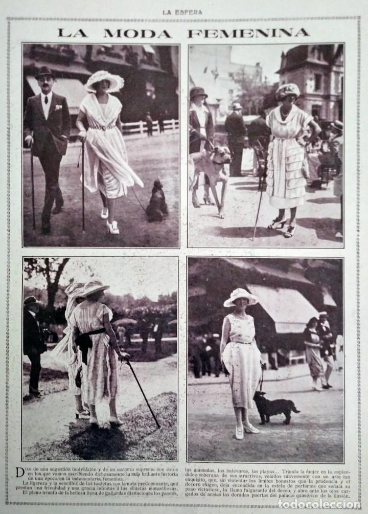 Coleccionismo de Revistas y Periódicos: REVISTA LA ESFERA ILUSTRACIÓN MUNDIAL 24 números encuadernados del número 288 al 312 año 1919 tomo 2 - Foto 4 - 115532519