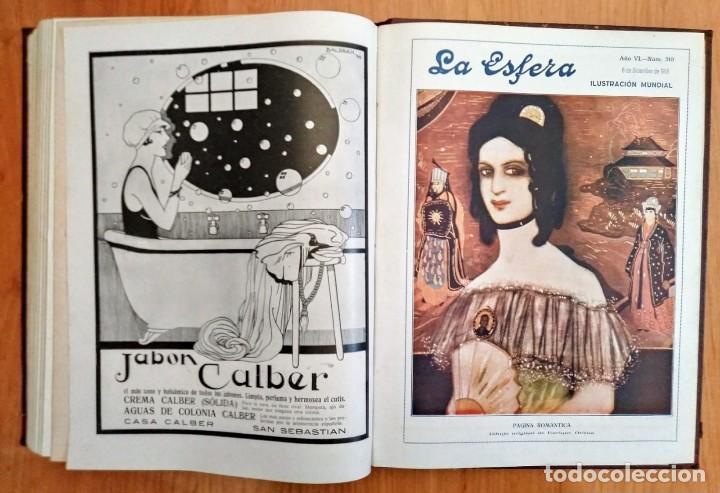 Coleccionismo de Revistas y Periódicos: REVISTA LA ESFERA ILUSTRACIÓN MUNDIAL 24 números encuadernados del número 288 al 312 año 1919 tomo 2 - Foto 6 - 115532519