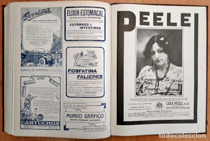 Coleccionismo de Revistas y Periódicos: REVISTA LA ESFERA ILUSTRACIÓN MUNDIAL 24 números encuadernados del número 288 al 312 año 1919 tomo 2 - Foto 8 - 115532519
