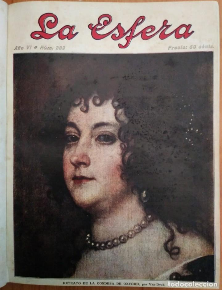 Coleccionismo de Revistas y Periódicos: REVISTA LA ESFERA ILUSTRACIÓN MUNDIAL 24 números encuadernados del número 288 al 312 año 1919 tomo 2 - Foto 11 - 115532519