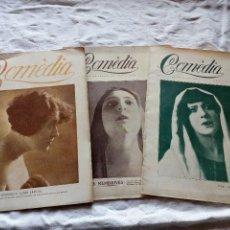 Coleccionismo de Revistas y Periódicos: 3 PRIMEROS NUMEROS REVISTA CATALANA COMEDIA. AÑOS 20.TEATRO.CINE.TEATRAL.ALFONSO XIII. Lote 115541067