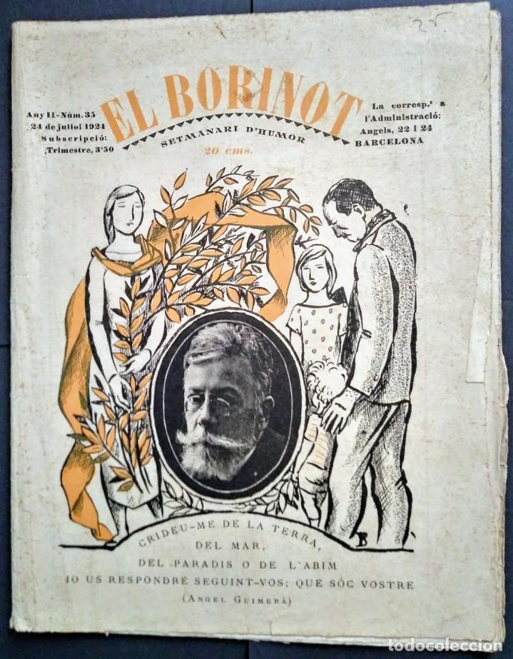 1924 EL BORINOT SETMANARI D,HUMOR ÁNGEL GUIMERÁ, LA COSTA BRAVA, PRIMER TREN BARCELONA MATARÓ (Coleccionismo - Revistas y Periódicos Antiguos (hasta 1.939))