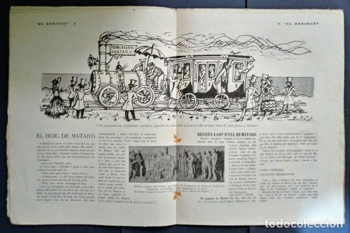 Coleccionismo de Revistas y Periódicos: 1924 EL BORINOT Setmanari d,humor Ángel guimerá, La costa brava, Primer tren Barcelona Mataró - Foto 5 - 115574627