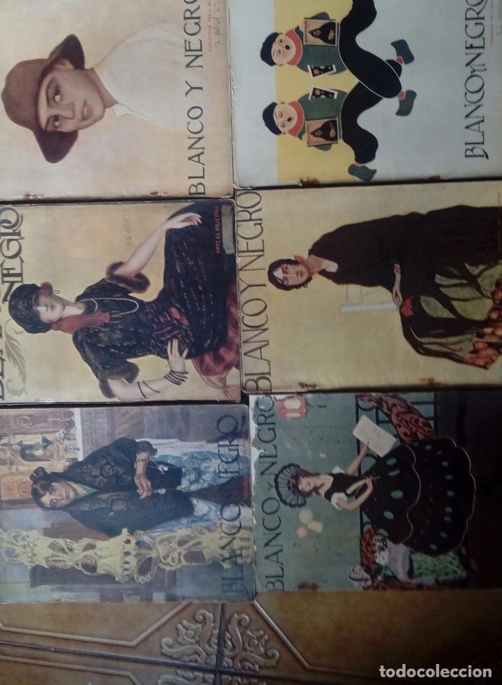 REVISTA BLANCO Y NEGROS AÑOS 1922 1928 (Coleccionismo - Revistas y Periódicos Antiguos (hasta 1.939))