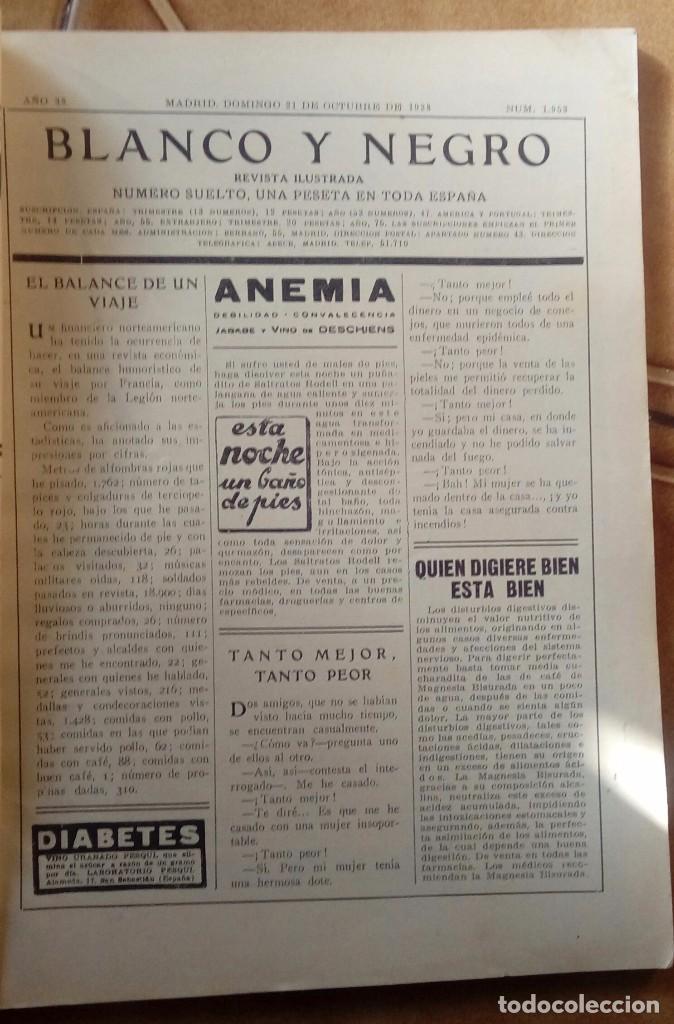 Coleccionismo de Revistas y Periódicos: Revista blanco y negros años 1922 1928 - Foto 21 - 115595015