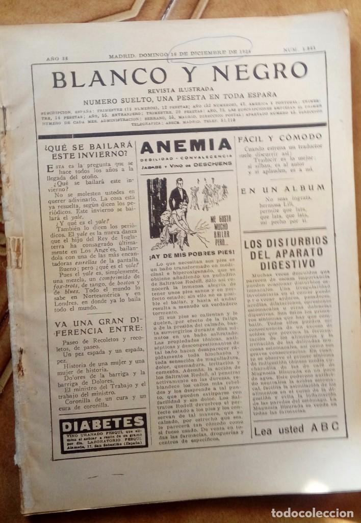 Coleccionismo de Revistas y Periódicos: Revista blanco y negros años 1922 1928 - Foto 28 - 115595015