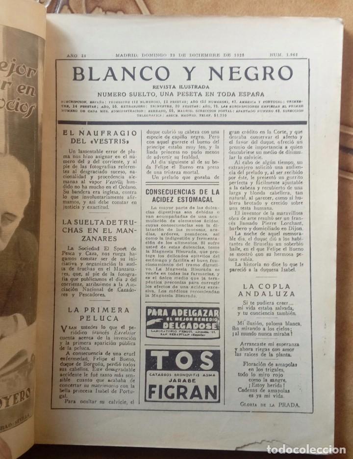 Coleccionismo de Revistas y Periódicos: Revista blanco y negros años 1922 1928 - Foto 48 - 115595015