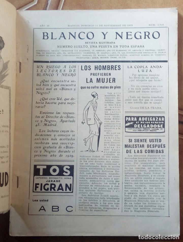 Coleccionismo de Revistas y Periódicos: Revista blanco y negros años 1922 1928 - Foto 51 - 115595015