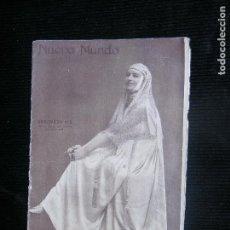Coleccionismo de Revistas y Periódicos: F1 NUEVO MUNDO Nº 1119 AÑO 1915 GENOVEVA VIX BELLA TIPLE DE OPERA.. Lote 115613751