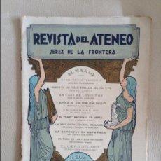 Coleccionismo de Revistas y Periódicos: REVISTA DEL ATENEO JEREZ DE LA FRONTERA 1925. Lote 115689435
