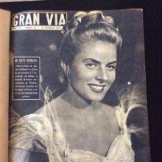 Coleccionismo de Revistas y Periódicos: GRAN VIA ,REVISTA AÑO II-ENCUADERNADA MARZO DE L 1957 HASTA 19 DICIEMBRE 1957. Lote 115702639