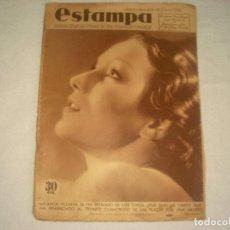 Coleccionismo de Revistas y Periódicos: ESTAMPA N° 418 . ENERO 1936 . NICANOR VILLALTA RETIRADO DE LOS TOROS POR UNA MUJER ?. Lote 115771535