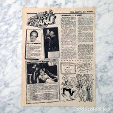 Coleccionismo de Revistas y Periódicos: RECORTE - GENESIS, ROLLING STONES - 1981. Lote 115972703