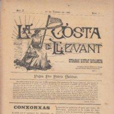Coleccionismo de Revistas y Periódicos: LA COSTA DE LLEVANT DE BADALONA 1897 1900 A TORDERA MARESME 63 NÚMEROS. Lote 116103663