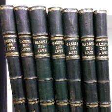 Coleccionismo de Revistas y Periódicos: GAZETA DEL ARTE EXPOSICIONES Y SUBASTAS Nº1 AL 84 + 2 ESPECIALES PICASSO OBRA COMPLETA 7 TOMOS. Lote 193943335
