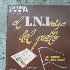 Coleccionismo de Revistas y Periódicos: HISTORIA LIBERTARIA 2 ENERO 1979 CNT EN GOBIERNO.JULIO VERNE.ABAD DE SANTILLANA.PEDAGOGIA.ARANGUREN . Lote 116136539