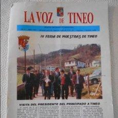 Coleccionismo de Revistas y Periódicos: LA VOZ DE TINEO. BOLETIN INFORMATIVO MUNICIPAL. Nº X. ABRIL 1992. 46 PAGINAS. CON ANUNCIOS Y FOTOGRA. Lote 116155051