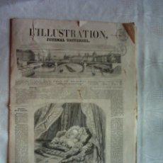 Coleccionismo de Revistas y Periódicos: L´ILLUSTRATION, JOURNAL UNIVERSEL. 19 AVRIL 1856. RARÍSIMO EJEMPLAR. ILUSTRADO CON GRABADOS.. Lote 116244319