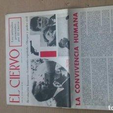 Coleccionismo de Revistas y Periódicos: REVISTA EL CIERVO N. 172 JUNIO 1968. Lote 116309263