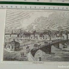 Coleccionismo de Revistas y Periódicos: GRABADO REVISTA ORIGINAL SIGLO XIX. VUE DE GLASGOW. Lote 116351763