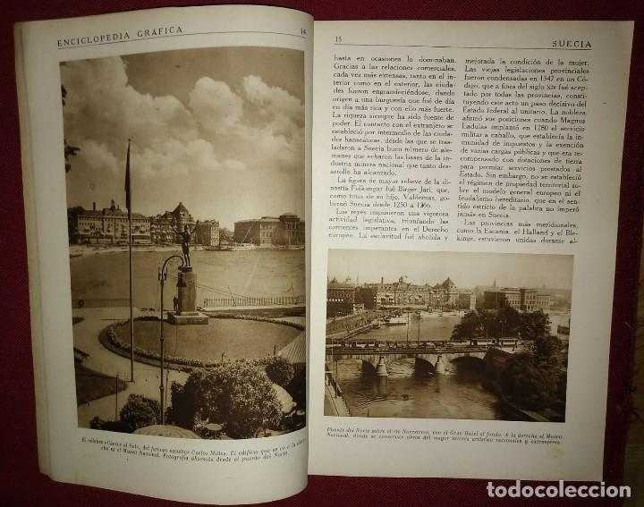 Coleccionismo de Revistas y Periódicos: SUECIA ENCICLOPEDIA GRÁFICA - MACARIO GOLFERICHS-LUIS G. MANEGAT - BARCELONA 1930 - Foto 2 - 116424559