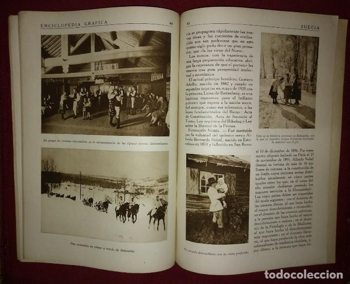 Coleccionismo de Revistas y Periódicos: SUECIA ENCICLOPEDIA GRÁFICA - MACARIO GOLFERICHS-LUIS G. MANEGAT - BARCELONA 1930 - Foto 3 - 116424559