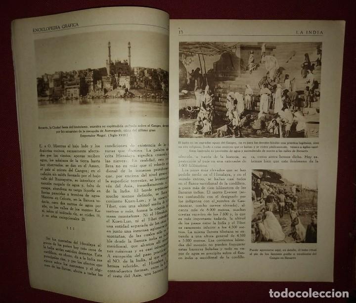 Coleccionismo de Revistas y Periódicos: LA INDIA ENCICLOPEDIA GRÁFICA - MACARIO GOLFERICHS-LUIS G. MANEGAT - BARCELONA 1930 - Foto 2 - 116425795