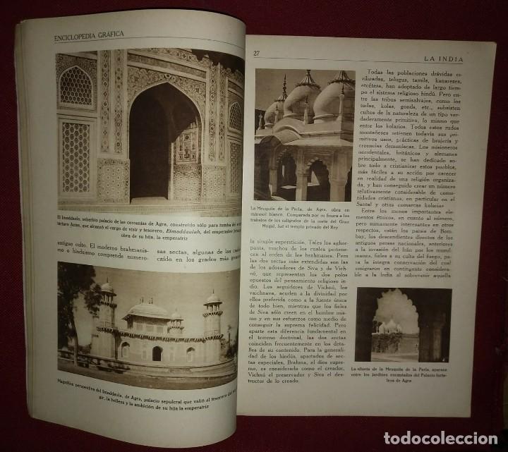 Coleccionismo de Revistas y Periódicos: LA INDIA ENCICLOPEDIA GRÁFICA - MACARIO GOLFERICHS-LUIS G. MANEGAT - BARCELONA 1930 - Foto 3 - 116425795