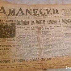 Coleccionismo de Revistas y Periódicos: PERIÓDICO AMANECER -ZARAGOZA 10 ABRIL 1942- ORIGINAL DE ÉPOCA. Lote 116480271