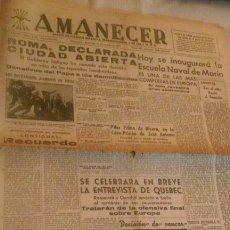 Coleccionismo de Revistas y Periódicos: PERIÓDICO AMANECER -ZARAGOZA 15 AGOSTO 1943- ORIGINAL DE ÉPOCA. Lote 116481523