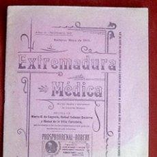 Coleccionismo de Revistas y Periódicos: EXTREMADURA MEDICA. 1917. .EL ENVIO CERTIFICADO ESTA INCLUIDO EN EL PRECIO.. Lote 116622443