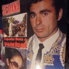 Coleccionismo de Revistas y Periódicos: REVISTA SEMANA MUERTE DE PAQUIRRI 1984 - JULIO IGLESIAS Y RAQUEL WELCH - SOFIA LOREN 50 AÑOS. Lote 116839607