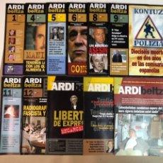 Coleccionismo de Revistas y Periódicos: ARDI BELTZA, REVISTA DE PERIODISMO DE INVESTIGACIÓN VASCA - LOTE DE 11 NÚMEROS -. Lote 116840263