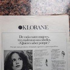 Coleccionismo de Revistas y Periódicos: ANUNCIO KLORANE CHAMPU . Lote 116978495