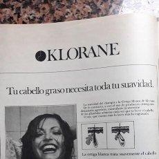 Coleccionismo de Revistas y Periódicos: ANUNCIO KLORANE CHAMPU . Lote 116978511
