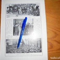 Coleccionismo de Revistas y Periódicos: RECORTE PRENSA : MANIFESTACION EN BARCELONA ; MUTUALIDAD MAURISTA. BLANCO Y NEGRO, OCTUBRE 1915. Lote 117009459