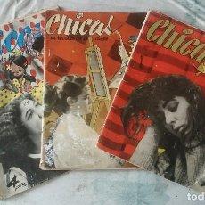 Coleccionismo de Revistas y Periódicos: CHICAS. LA REVISTA DE LOS 17 AÑOS. NÚMEROS 95, 115 Y 191 (1952-1954). Lote 117082759