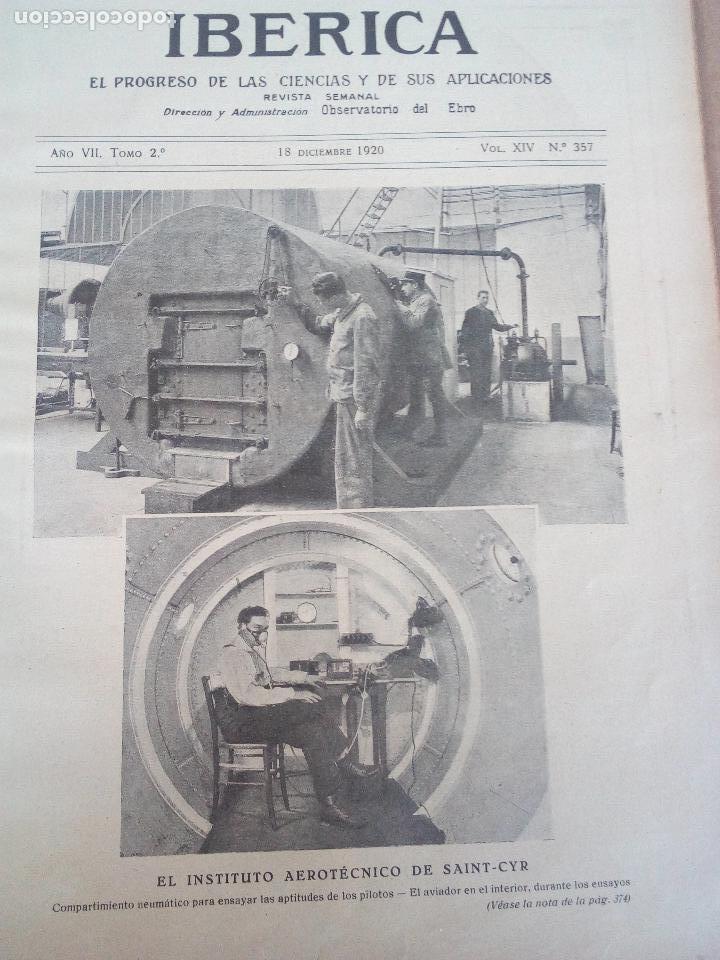 REVISTA IBERICA Nº357 1920 LOCOMOTORA ELECTRICA TRIFASICA-LA NAVEGACION AEREA ISLAS CANARIAS (Coleccionismo - Revistas y Periódicos Antiguos (hasta 1.939))